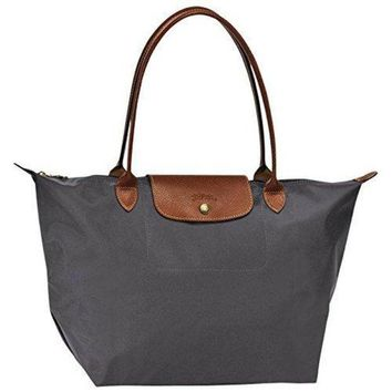 ONETOW Large tote bag L ( gun metal ) by longchamp paris ' LE PLIAGE' 100% authentic original from PARIS FRANCE