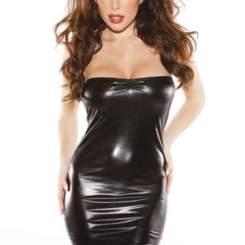 Kitten Wet Look Tube Dress
