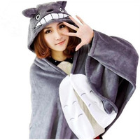 Cos My Neighbor Totoro Cloak Cape Costume Air Conditioner Blanket Shawl Desigaul Harajuku Kawaii Clothes