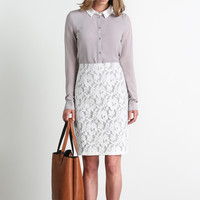 Andie Gray Collar Blouse