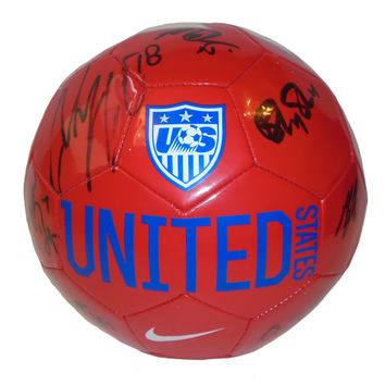 2015 United States Womans National Team Autographed USA Nike Soccer Ball, Proof Photo