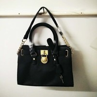 MICHAEL KORS HAMILTON LARGE NORTH/SOUTH TOTE PURSE BAG BLACK