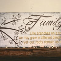 Family Like Branches On A Tree Pallet Sign Family Room Sign Wood Wall Decor Wood Wall Art  Home Decor Housewarming Gift Anniversary Gift