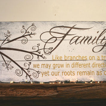 Family Like Branches On A Tree Pallet Sign Family Room Sign Wood & Shop Family Wall Art Wood on Wanelo