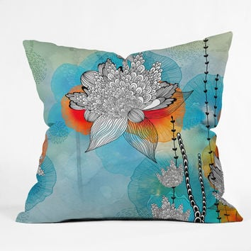 Iveta Abolina Coral Outdoor Throw Pillow