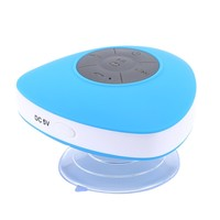 Waterproof Mini Bluetooth Speaker With Suction Cup for Bath Shower or Pool