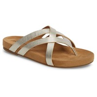 Lucky Brand Fillima Nickel Strappy Sandals
