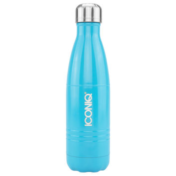 ICONIQ 17oz Gloss Blue Water Bottle - Stainless Steel Vacuum Insulated