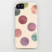Decorative Multicolored Metallic Dots on Cream iPhone & iPod Case by Perrin Le Feuvre | Society6