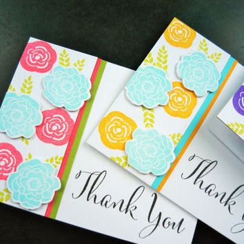 Floral Thank You Card Set of 3