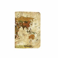 Ancient Old World Map Customized Cute Leather Passport Holder - Passport Covers - Passport Wallet_SUPERTRAMPshop