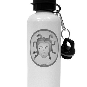 Medusa Head Coin - Greek Mythology Aluminum 600ml Water Bottle by TooLoud