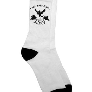 Camp Half Blood Cabin 5 Ares Adult Crew Socks by