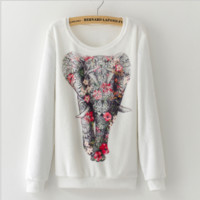 Flannel Elephant print sweater