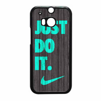 Nike Just Do It Wood Colored Darkwood Wooden Fdl HTC One M8 Case