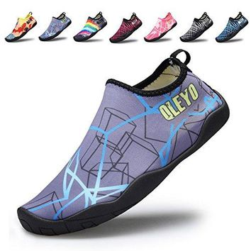 QLEYO Men and Women Water Sports Shoes Barefoot QuickDry Multifunctional Sneakers with Drainage Holes