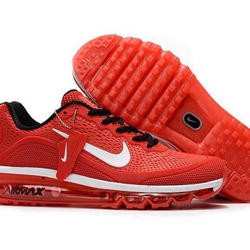 Air Max 2017 Men Shoes White Red