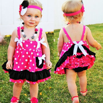 Minnie Mouse Pink Swing Top Set and Accesories