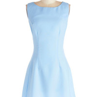 ModCloth Pastel Short Sleeveless A-line Radiant Reporter Dress