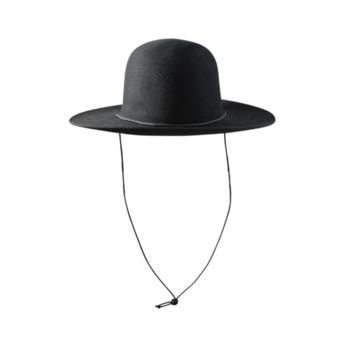 Felt Hat with Cord - Black