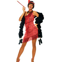 Dazzling Red Flapper Costume