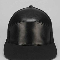Rosin Faux-Leather 7-Panel Hat - Black One