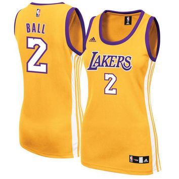 Women's Los Angeles Lakers Lonzo Ball adidas Gold Home Replica Jersey