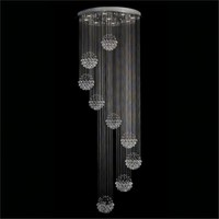 Clear Crystal Spheres 9-Light Chandelier - #P5506 | LampsPlus.com