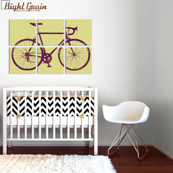 Custom Road Bike Painting - Large Bicycle Wall Art - 24x 36 Screen Print