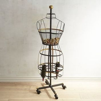 Madam Bordeaux Dress Form Wine Rack