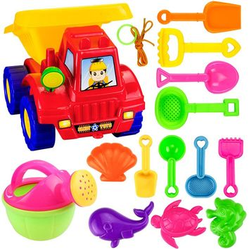 14 Pcs/Lot Sand/Bath Playing Fun Toy Model Building Kits Play Dough ABS Mold Tools Set Polymer Clay funny Sand Beach Toys