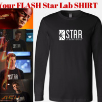 THE FLASH DC BARRY ALLEN LABORATORIES STAR LABS T-SHIRT