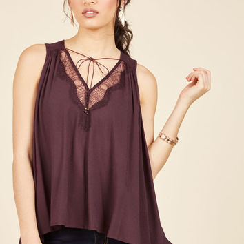 In It for the Accents Sleeveless Top