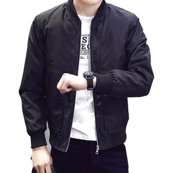 Men's Slim Bomber Jacket