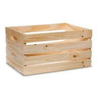 Hand Made Modern - Wooden Crate - Pine