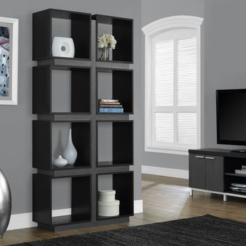 "Black / Grey Hollow-Core 71""H Bookcase"