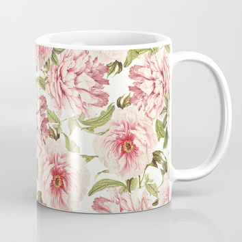 old fashioned peonies Mug by Sylvia Cook Photography