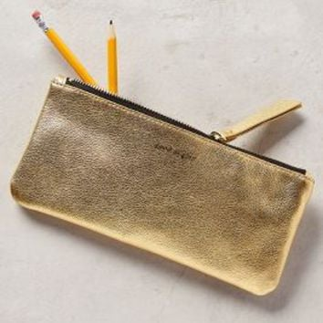 Metallic Idiom Pencil Case by Anthropologie