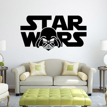 Star wars Star Wars cartoon living room bedroom living room kids room wall stickers removable waterproof home decor