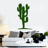 Vinyl Wall Decal Cactus Plant Mexican Decor Stickers Unique Gift (ig4130)