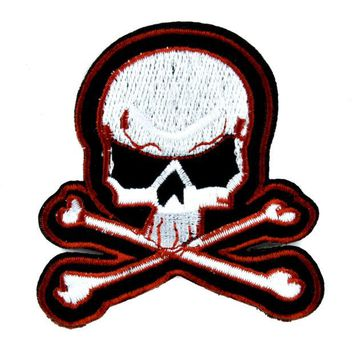 ac spbest Skull & Crossbones Patch Iron on Applique Punk Rock Clothing