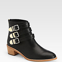 Loeffler Randall - Fenton Leather Buckle Ankle Boots - Saks Fifth Avenue Mobile