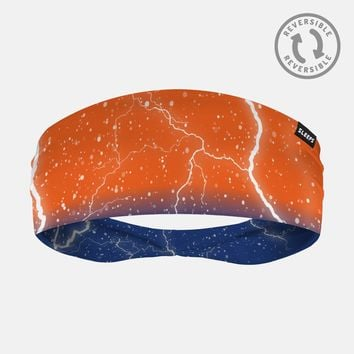 Lightning Orange Blue Headband