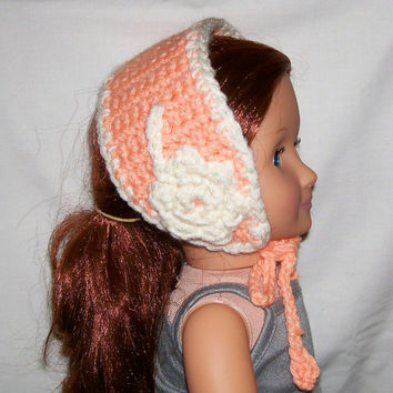 18 Inch Doll Hat, Crochet, Handmade, Doll Clothes, Doll Accessories, Crocheted Hat, American Made, Girl Doll Clothes, 18 Inch Doll Clothes