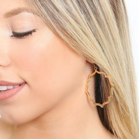 Gold Frame Drop Earrings