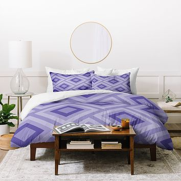 Lara Kulpa Purple Diamonds Duvet Cover