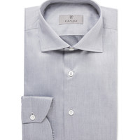 Canali - Grey Cotton Shirt | MR PORTER