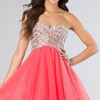 Sweetheart Short Tulle A-Line Party Junior Prom Dress