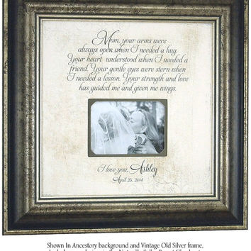 Personalized Picture Frame, Mom Your Arms Were Always open, Mother of the Groom Gift, Parents Wedding Gift, 16 X 16