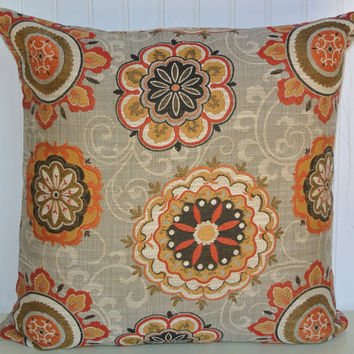Best Grey And Orange Accent Pillows Products On Wanelo Gorgeous Grey And Gold Decorative Pillows
